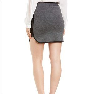 Splendid Grey Skirt with Faux Leather 🌸 Size: XS